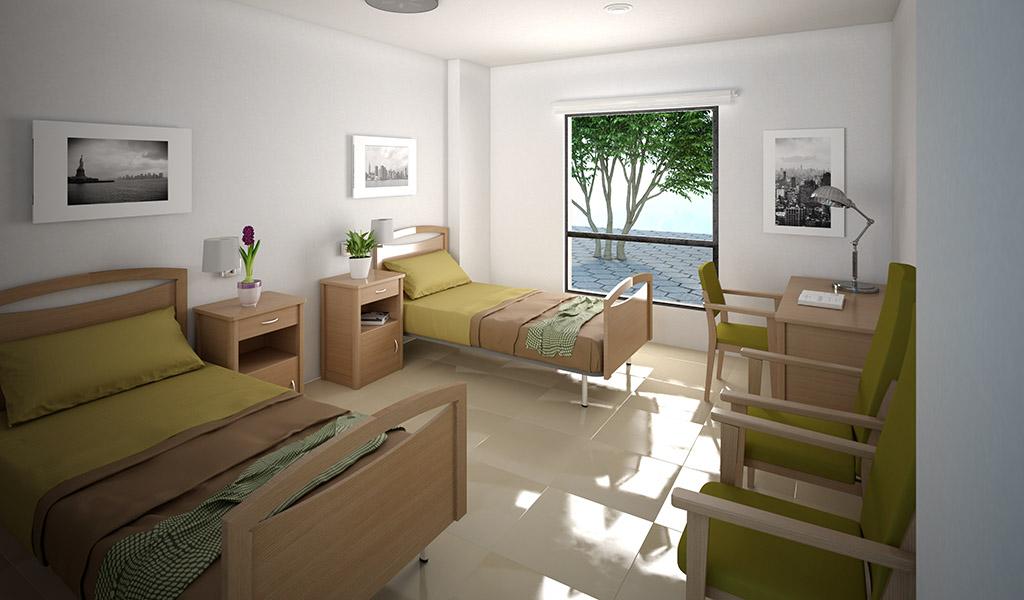 Habitaci n doble cama nova nd mobiliario y equipamiento integral s l - Sofas para habitacion ...